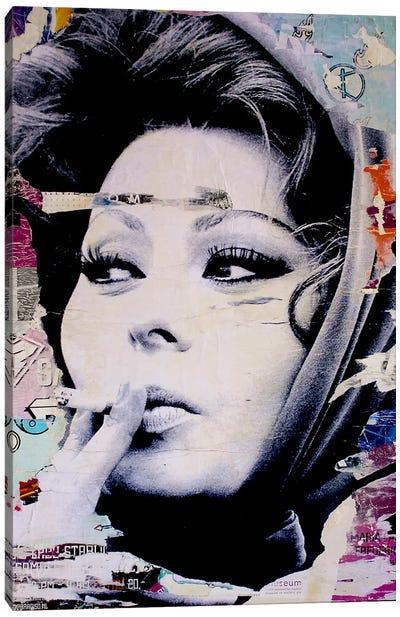 Sophia Loren Is Smoking Hot Canvas Print #MGF15