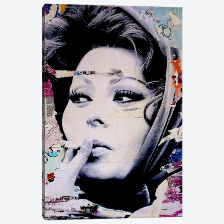 Sophia Loren Is Smoking Hot Canvas Print #MGF15} by Michiel Folkers Art Print