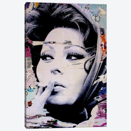 Sophia Loren Is Smoking Hot Canvas Print #MGF15} by Michiel Folkers Art Print