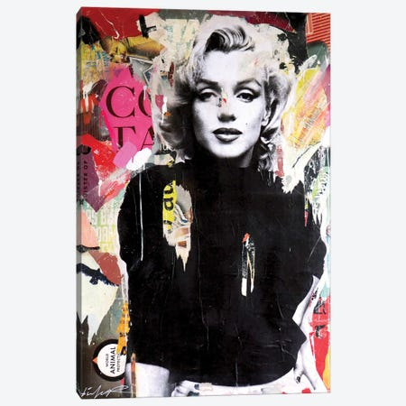 Marilyn II Canvas Print #MGF163} by Michiel Folkers Canvas Artwork