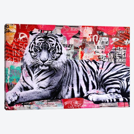 Tigerstyle I Canvas Print #MGF17} by Michiel Folkers Canvas Art Print