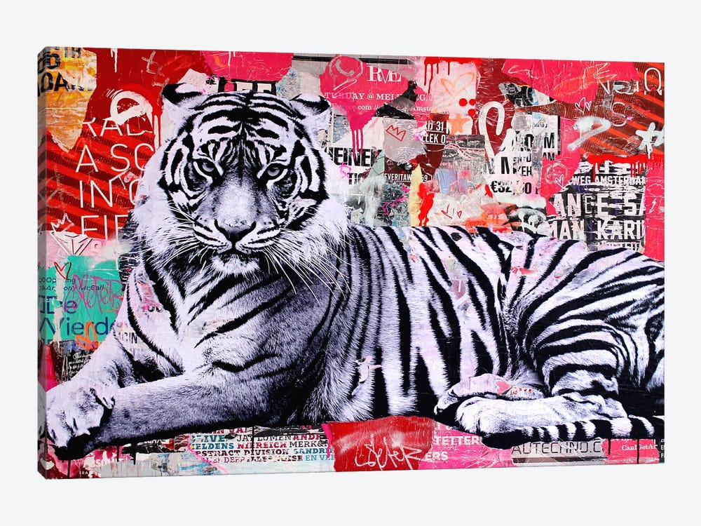 Tigerstyle I by Michiel Folkers 1-piece Canvas Print