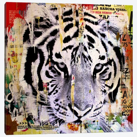 Tigerstyle II Canvas Print #MGF18} by Michiel Folkers Canvas Art