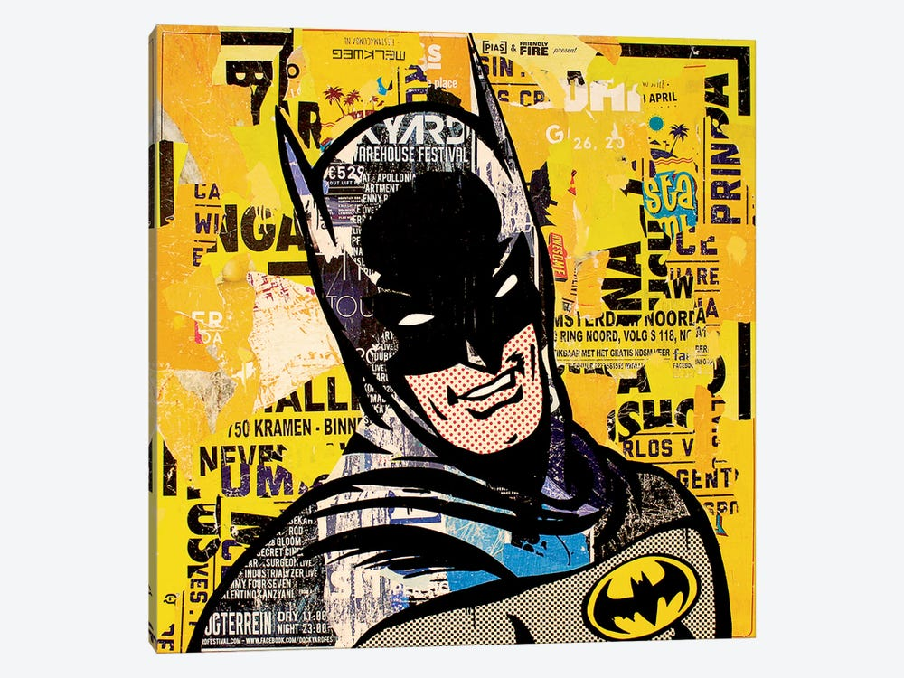 Batman by Michiel Folkers 1-piece Canvas Art