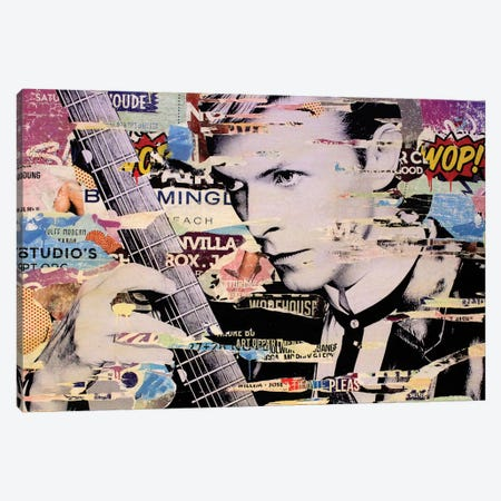 David Bowie Canvas Print #MGF22} by Michiel Folkers Art Print