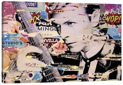 David Bowie Canvas Print #MGF22