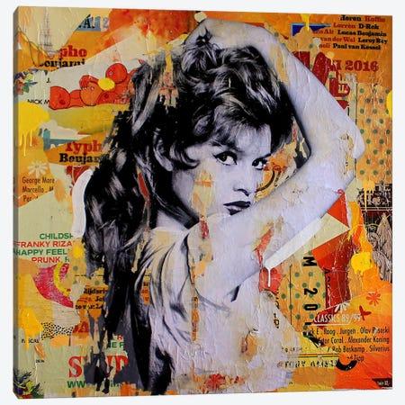 Brigitte Means Business Canvas Print #MGF24} by Michiel Folkers Canvas Art