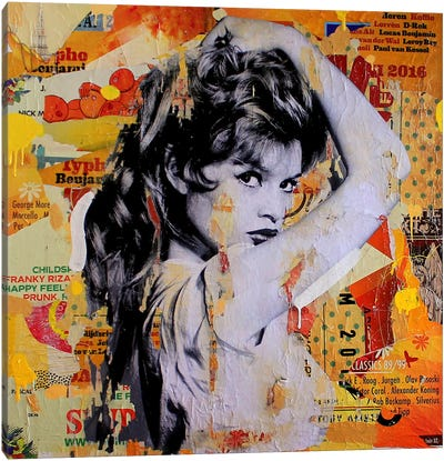 Brigitte Means Business Canvas Print #MGF24