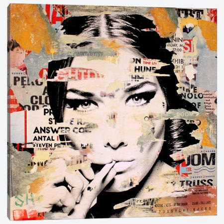 Carla Bruni Is Smoking Hot II Canvas Print #MGF25} by Michiel Folkers Canvas Wall Art