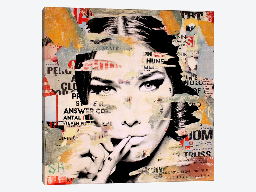 Carla Bruni Is Smoking Hot II by Michiel Folkers 1-piece Canvas Wall Art