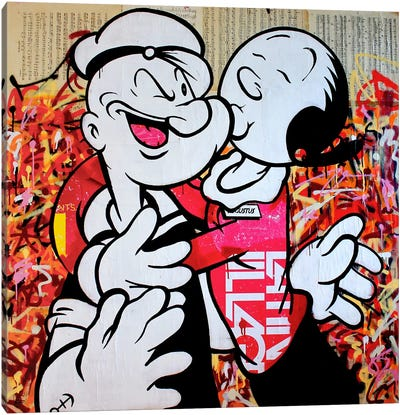 I Love Popeye Canvas Art Print