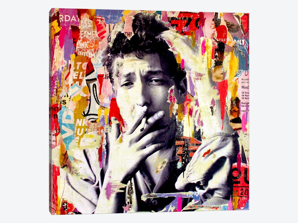 Bob Dylan by Michiel Folkers 1-piece Canvas Print