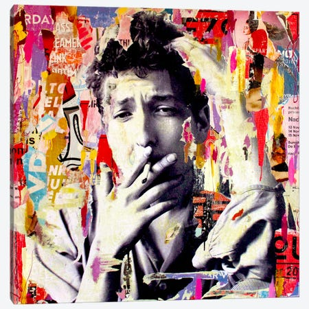 Bob Dylan Canvas Print #MGF2} by Michiel Folkers Art Print