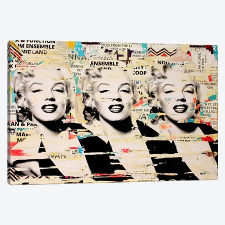 Marilyn, Marilyn, Marilyn Canvas Print #MGF32} by Michiel Folkers Canvas Wall Art