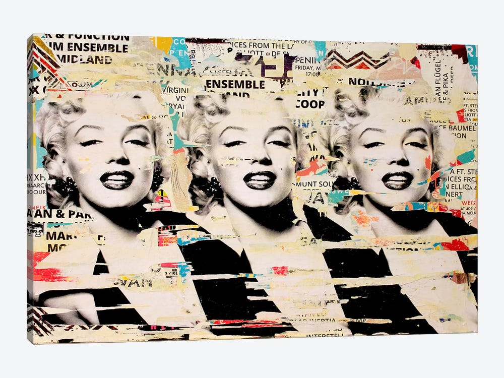 Marilyn, Marilyn, Marilyn by Michiel Folkers 1-piece Canvas Wall Art