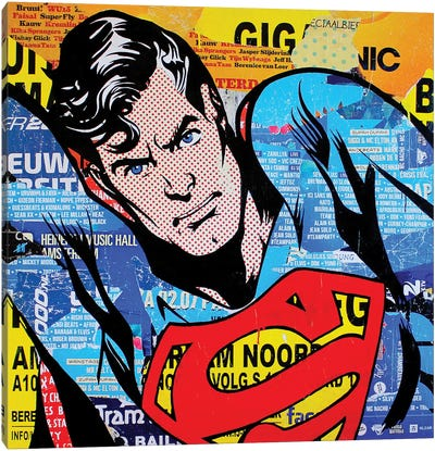 Superman Canvas Art Print