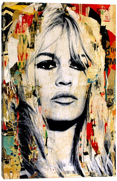 Brigitte Bardot Canvas Art Print