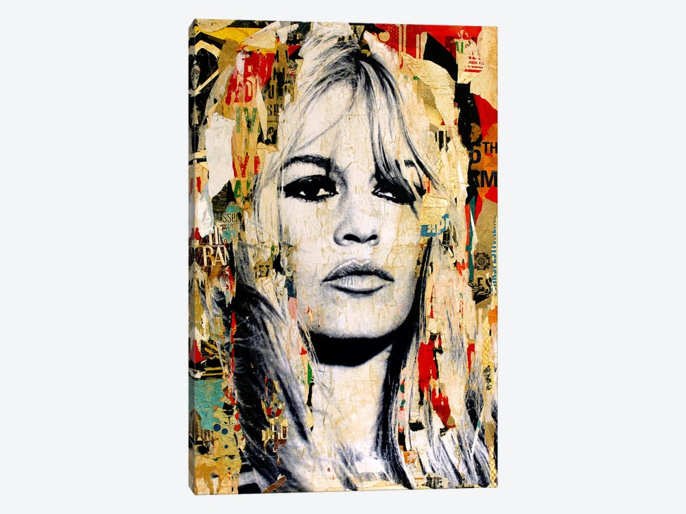 Brigitte Bardot by Michiel Folkers 1-piece Canvas Wall Art