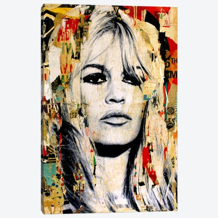 Brigitte Bardot Canvas Print #MGF3} by Michiel Folkers Canvas Art Print