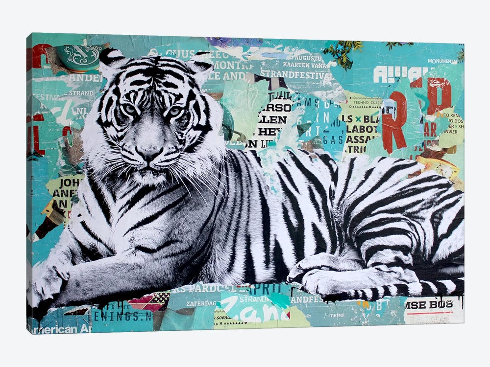 Tigerstyle III by Michiel Folkers 1-piece Canvas Print
