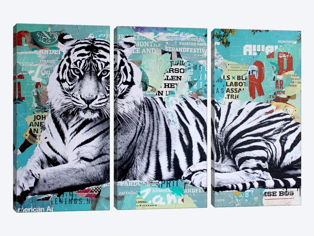 Tigerstyle III by Michiel Folkers 3-piece Canvas Art Print