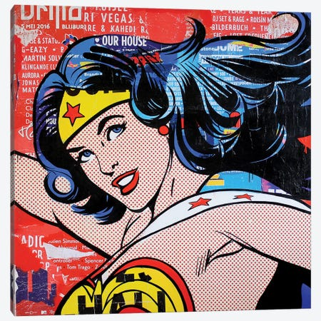 Wonder Woman I Canvas Print #MGF42} by Michiel Folkers Canvas Art Print
