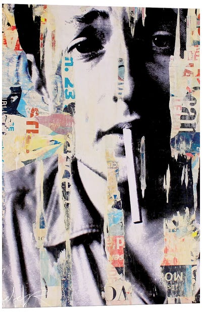 Bob Dylan II Canvas Art Print