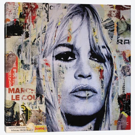 Brigitte Bardot II Canvas Print #MGF45} by Michiel Folkers Canvas Art