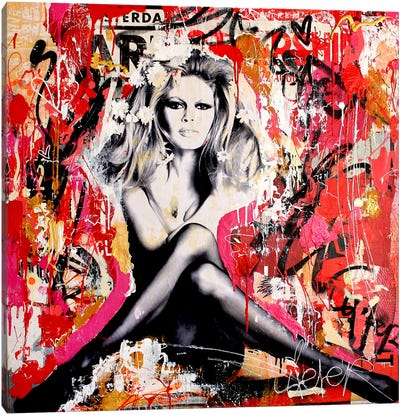 Brigitte Is In St.Tropez Again I Canvas Art Print