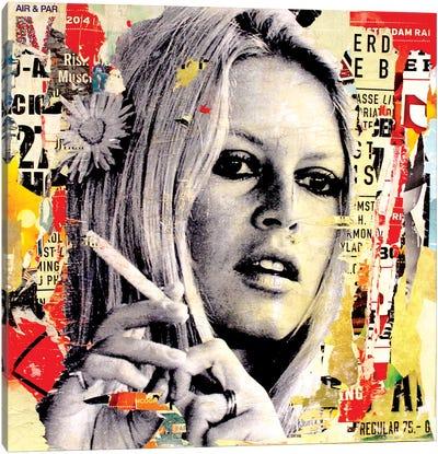 Brigitte Is Smoking Hot Canvas Print #MGF6
