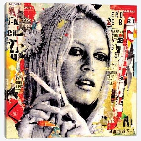 Brigitte Is Smoking Hot Canvas Print #MGF6} by Michiel Folkers Canvas Artwork