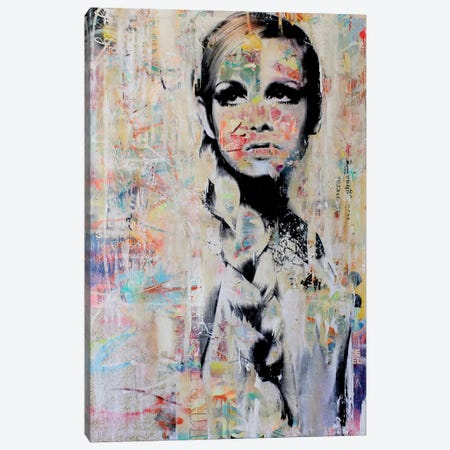 Twiggy Canvas Print #MGF73} by Michiel Folkers Canvas Art
