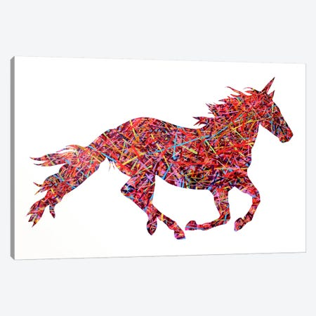 Don't Ride The Unicorn Canvas Print #MGF8} by Michiel Folkers Art Print