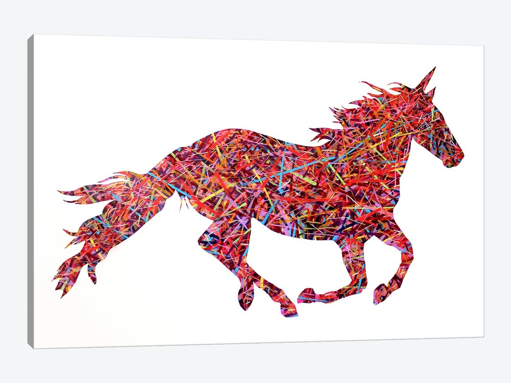 Don't Ride The Unicorn by Michiel Folkers 1-piece Art Print
