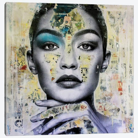 Gigi Hadid Canvas Print #MGF92} by Michiel Folkers Canvas Artwork