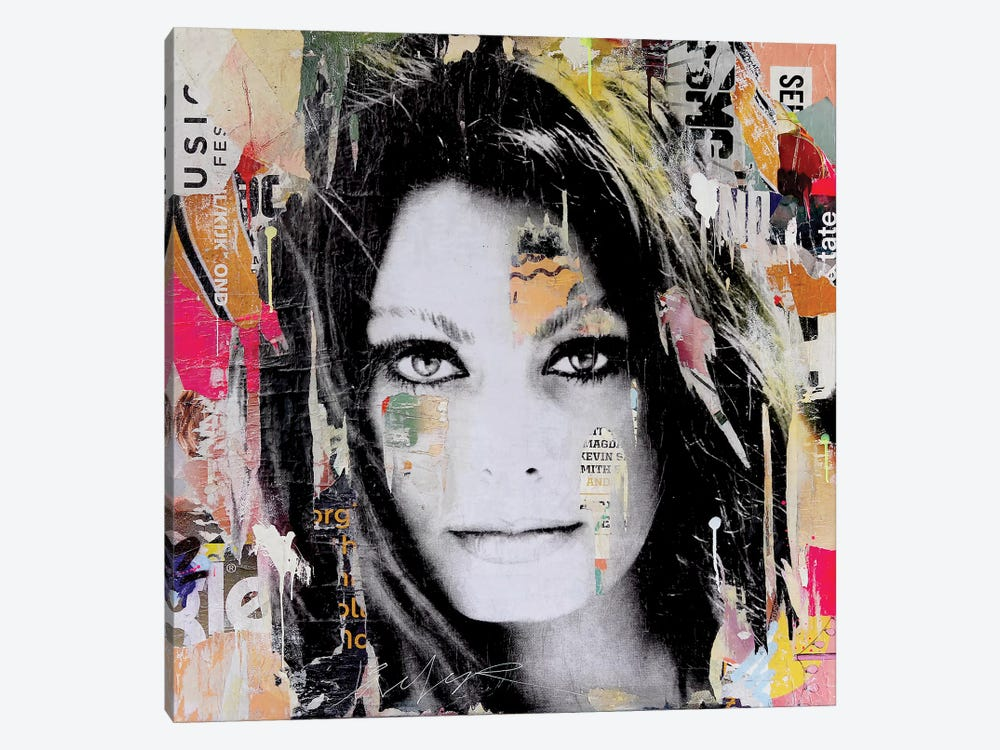Sophia Loren by Michiel Folkers 1-piece Canvas Print