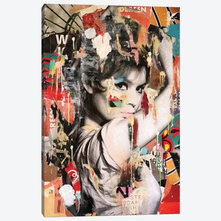 Brigitte Bardot II Canvas Print #MGF94} by Michiel Folkers Canvas Art Print