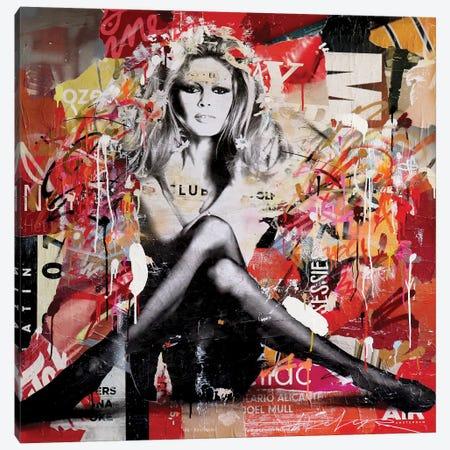Brigitte Bardot Canvas Print #MGF96} by Michiel Folkers Art Print