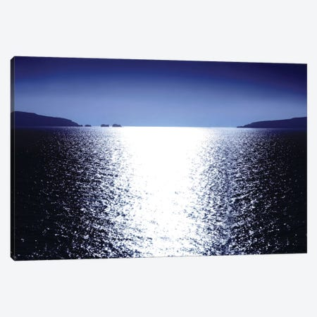Sunlight Reflection - Blue Canvas Print #MGG10} by Maggie Olsen Canvas Print