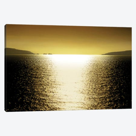 Sunlight Reflection - Golden 3-Piece Canvas #MGG11} by Maggie Olsen Canvas Art Print