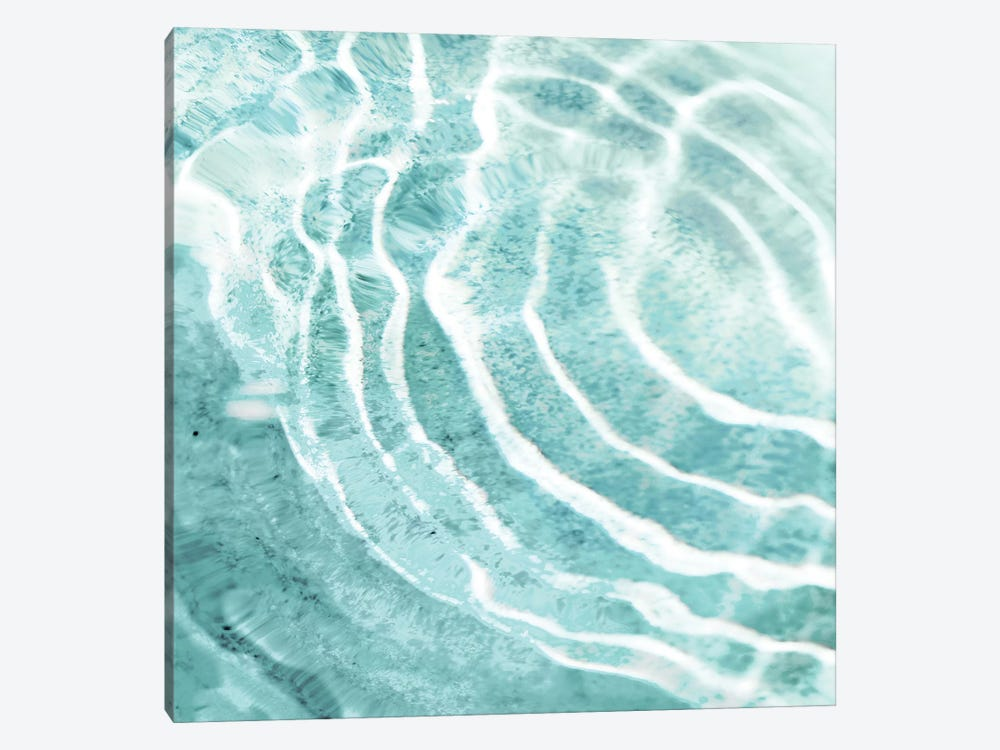 Aqua Ripple Reflection I by Maggie Olsen 1-piece Canvas Art