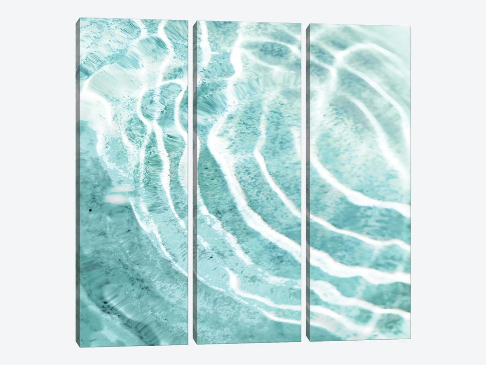 Aqua Ripple Reflection I by Maggie Olsen 3-piece Canvas Art
