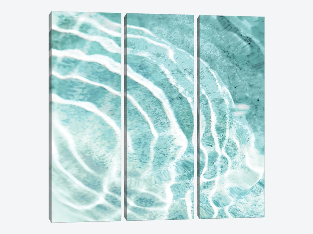 Aqua Ripple Reflection II by Maggie Olsen 3-piece Canvas Print
