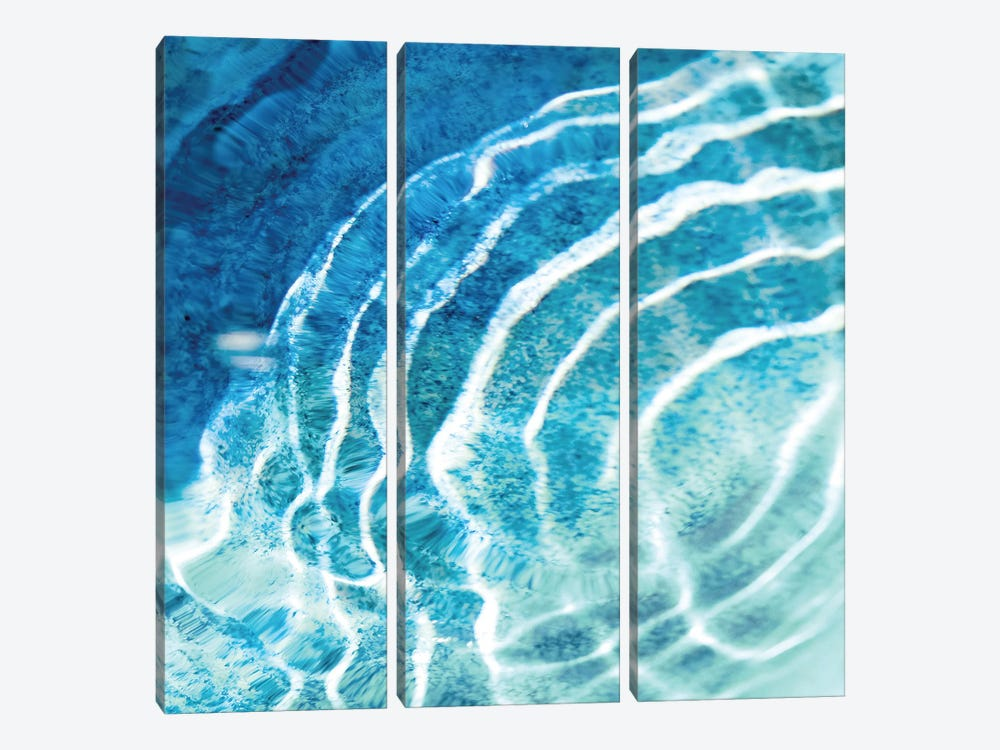 Aqua Ripple Reflection III by Maggie Olsen 3-piece Canvas Art