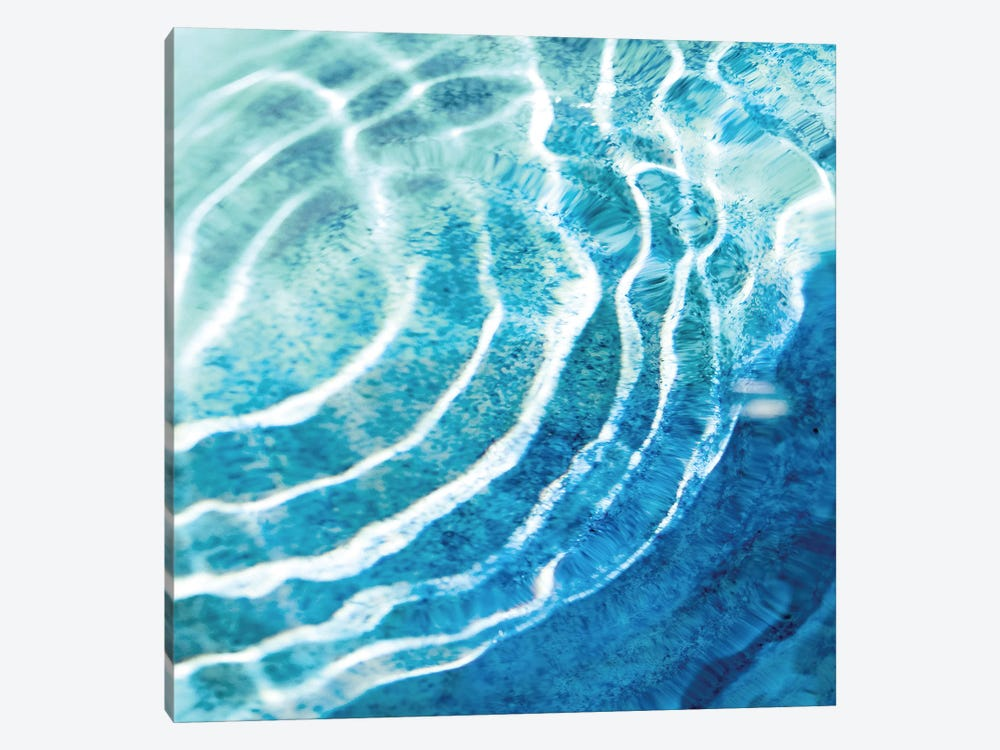 Aqua Ripple Reflection IV by Maggie Olsen 1-piece Canvas Art