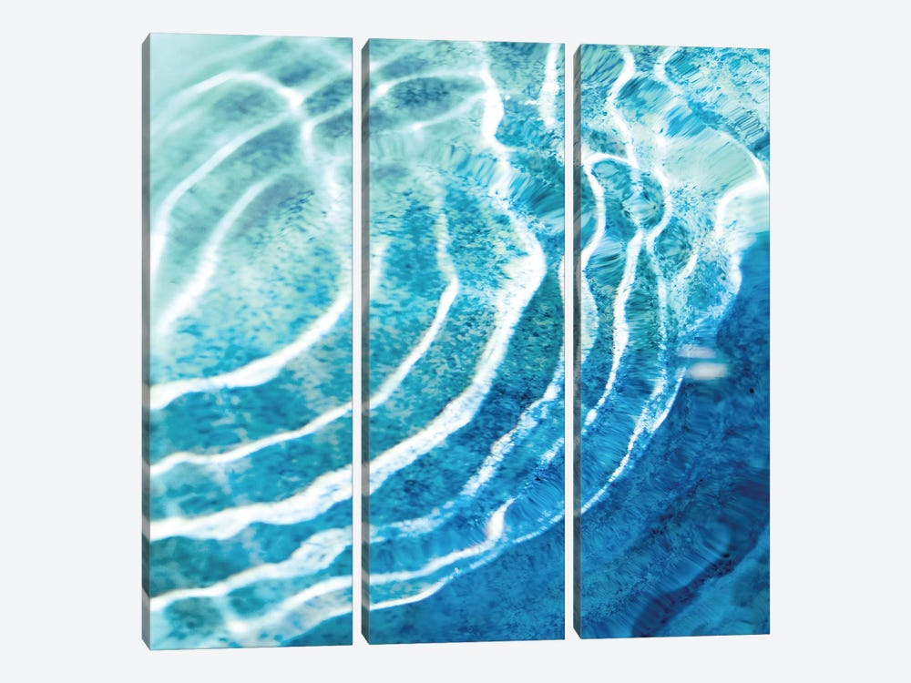 Aqua Ripple Reflection IV by Maggie Olsen 3-piece Canvas Art