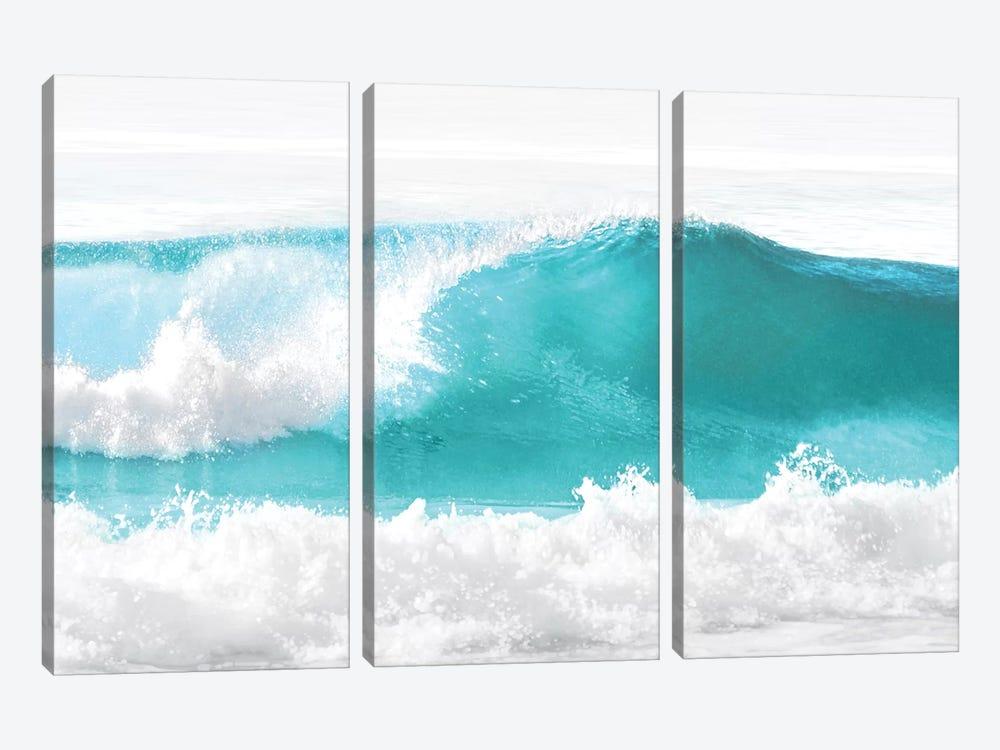 Aqua Wave I by Maggie Olsen 3-piece Canvas Art Print