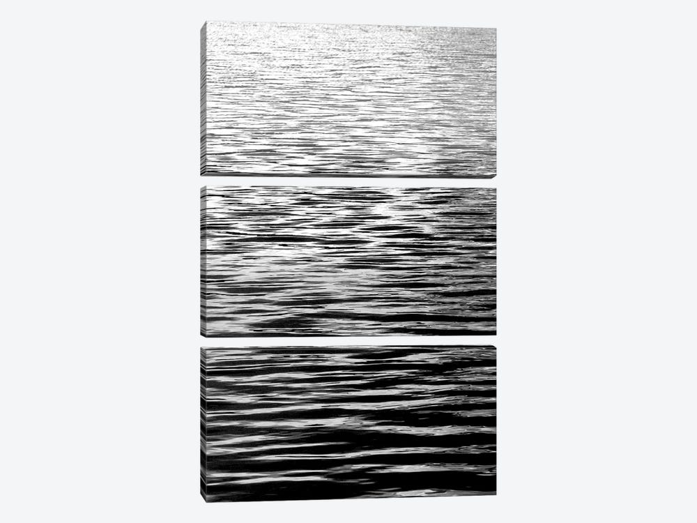 Ocean Current Black & White I by Maggie Olsen 3-piece Canvas Print