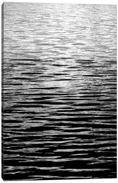 Ocean Current Black & White II Canvas Art Print