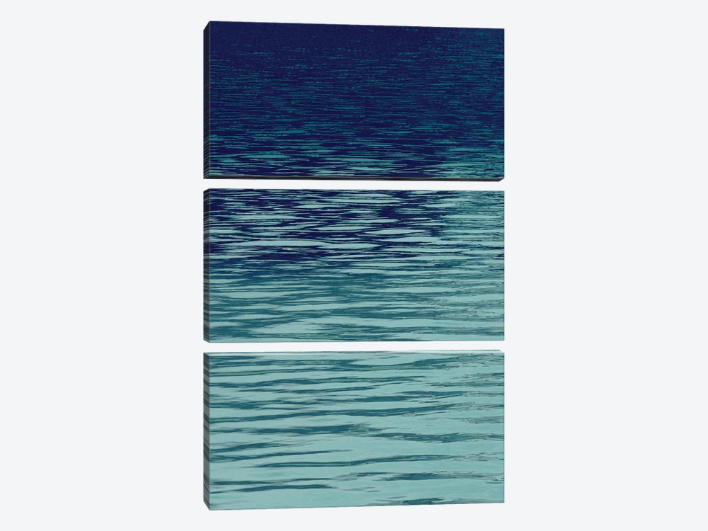 Ocean Current Blue I by Maggie Olsen 3-piece Canvas Print